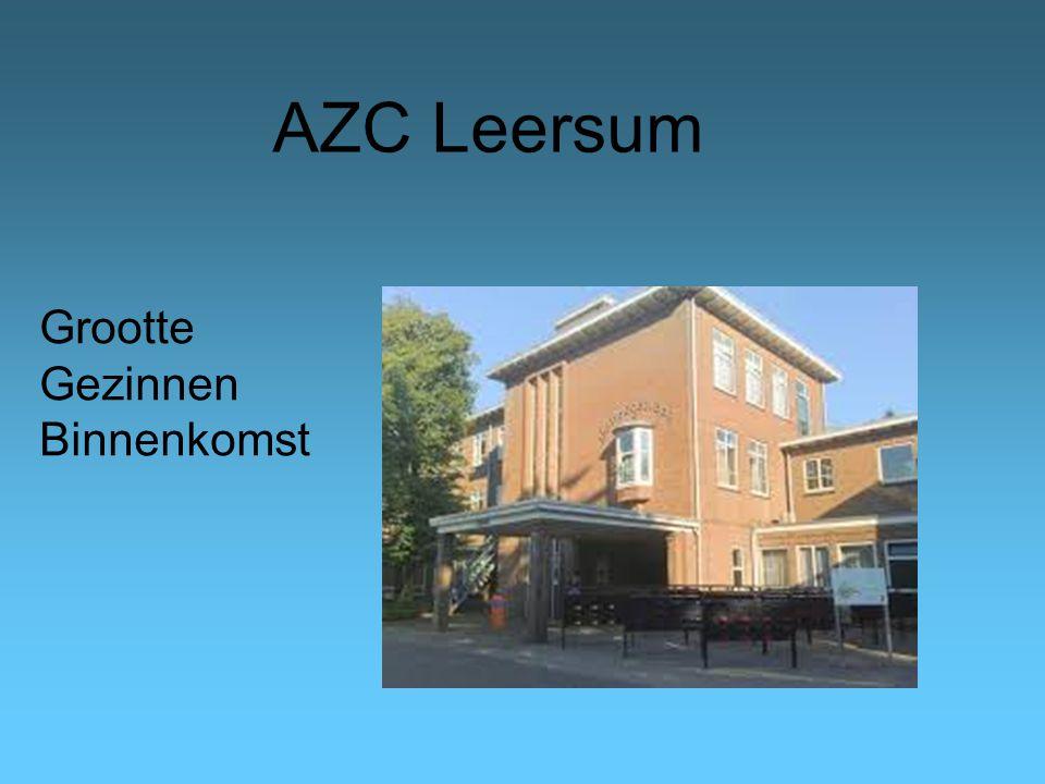 AZC Leersum Grootte Gezinnen Binnenkomst