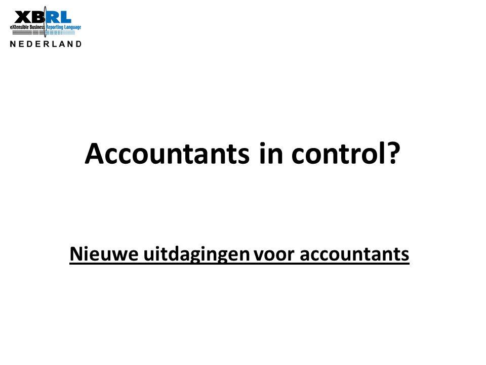 Accountants in control? Nieuwe uitdagingen voor accountants