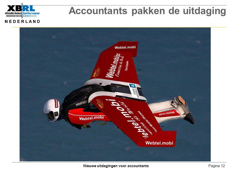 Pagina 12Nieuwe uitdagingen voor accountants Accountants pakken de uitdaging