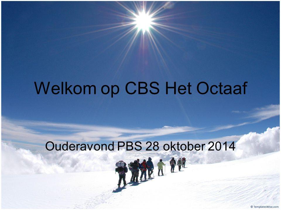 Welkom op CBS Het Octaaf Ouderavond PBS 28 oktober 2014