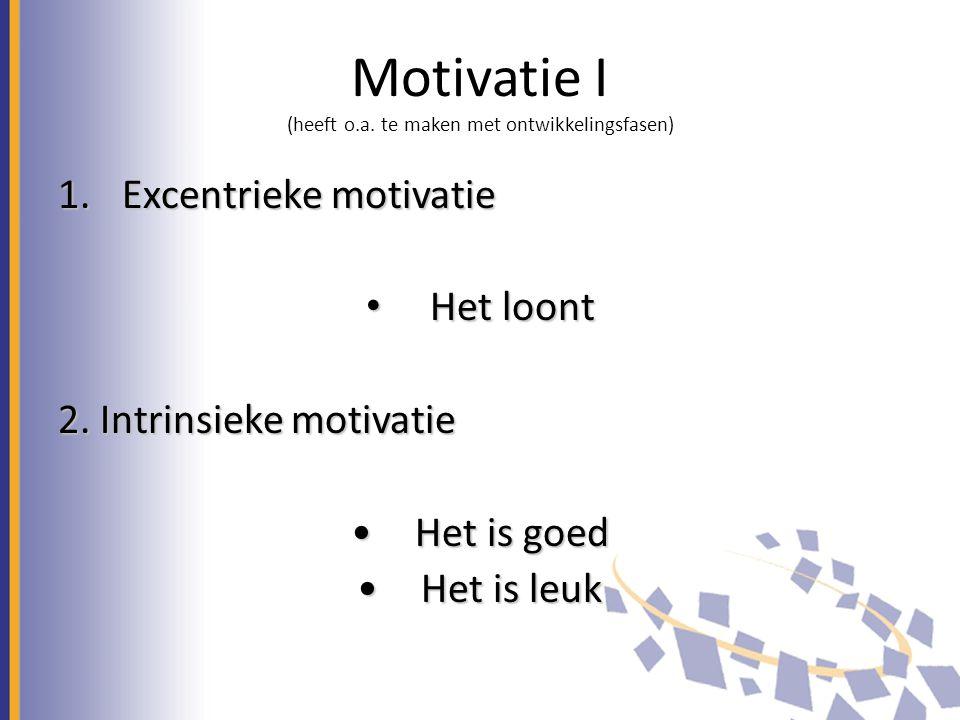 Motivatie I (heeft o.a.