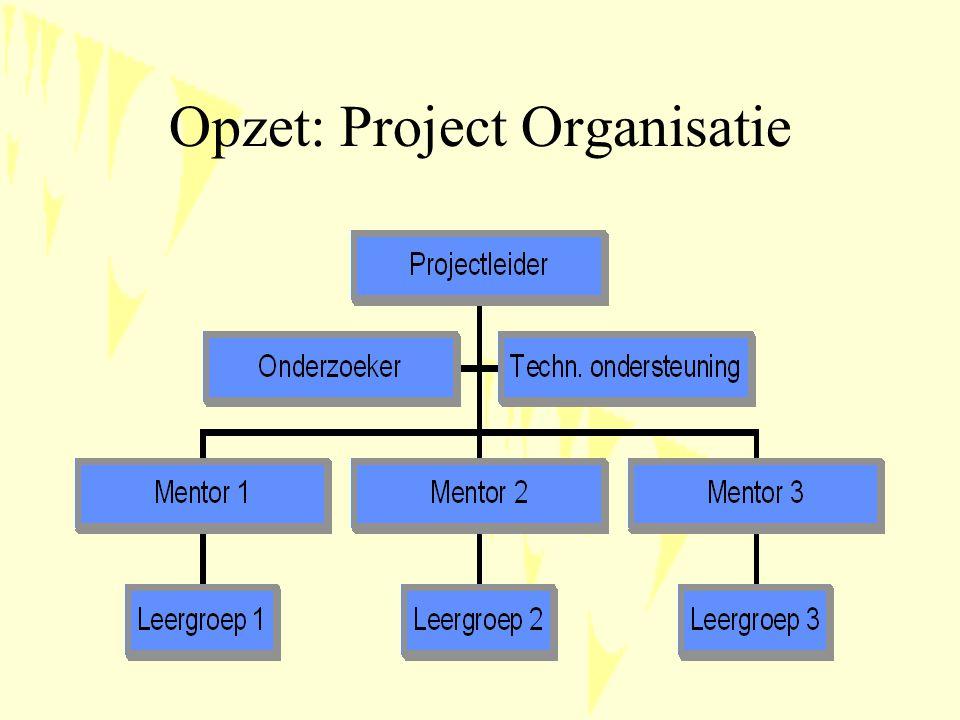 Opzet: Project Organisatie