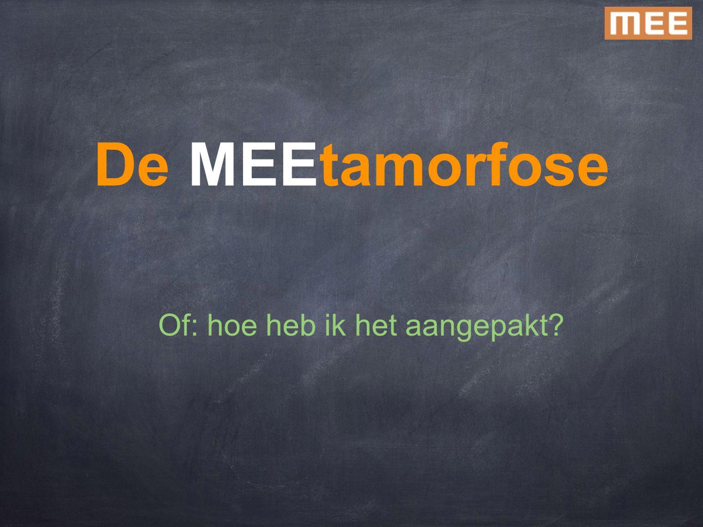 De MEEtamorfose Of: hoe heb ik het aangepakt?