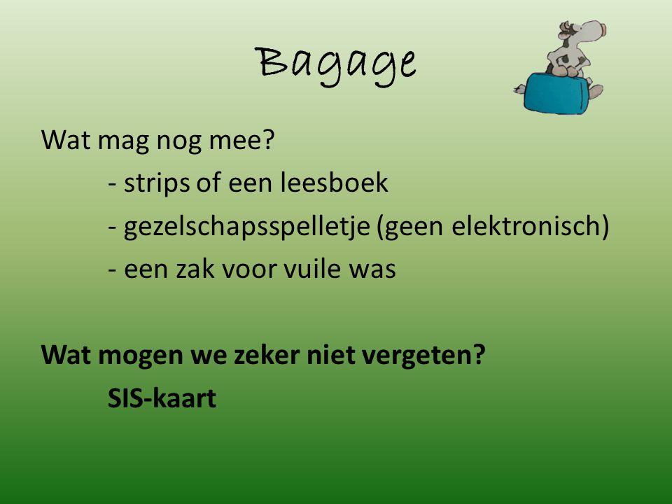 Bagage Wat mag nog mee.