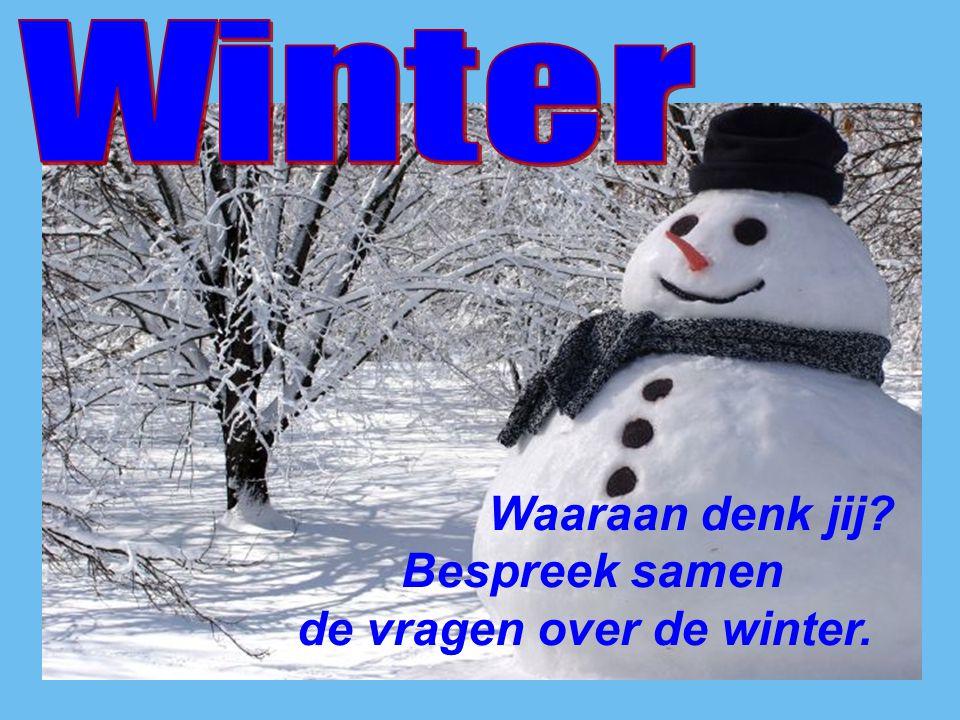 Waaraan denk jij? Bespreek samen de vragen over de winter.