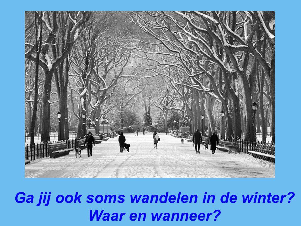 Ga jij ook soms wandelen in de winter? Waar en wanneer?