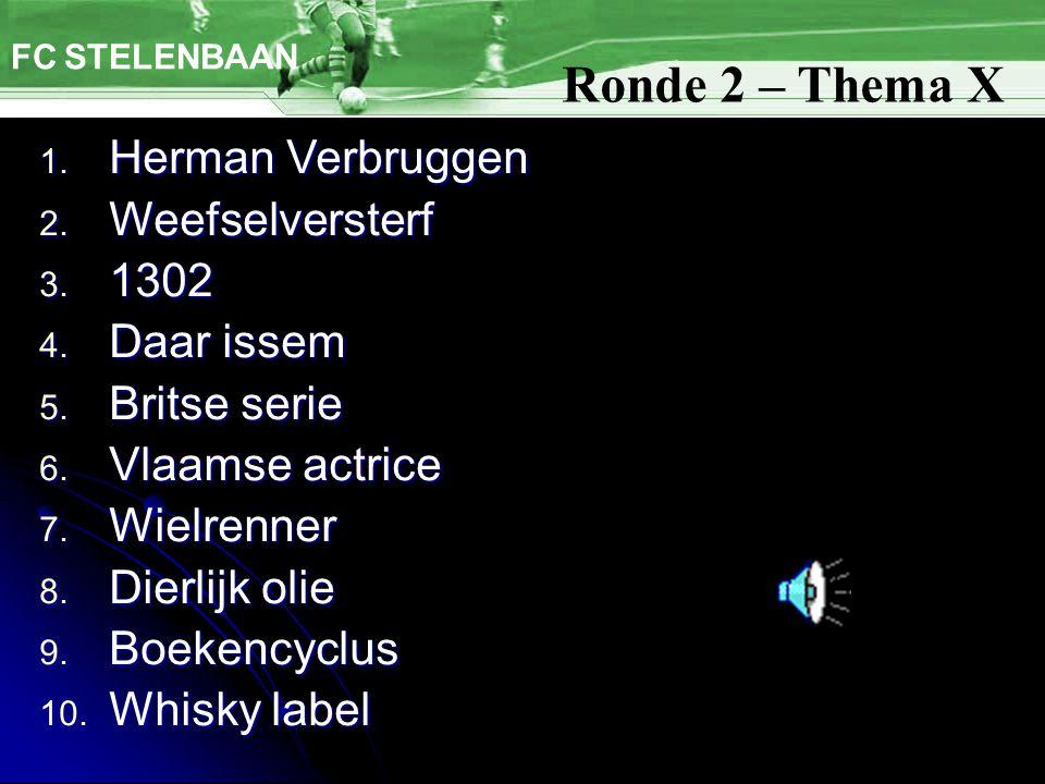 FC STELENBAAN 1. Herman Verbruggen 2. Weefselversterf 3.