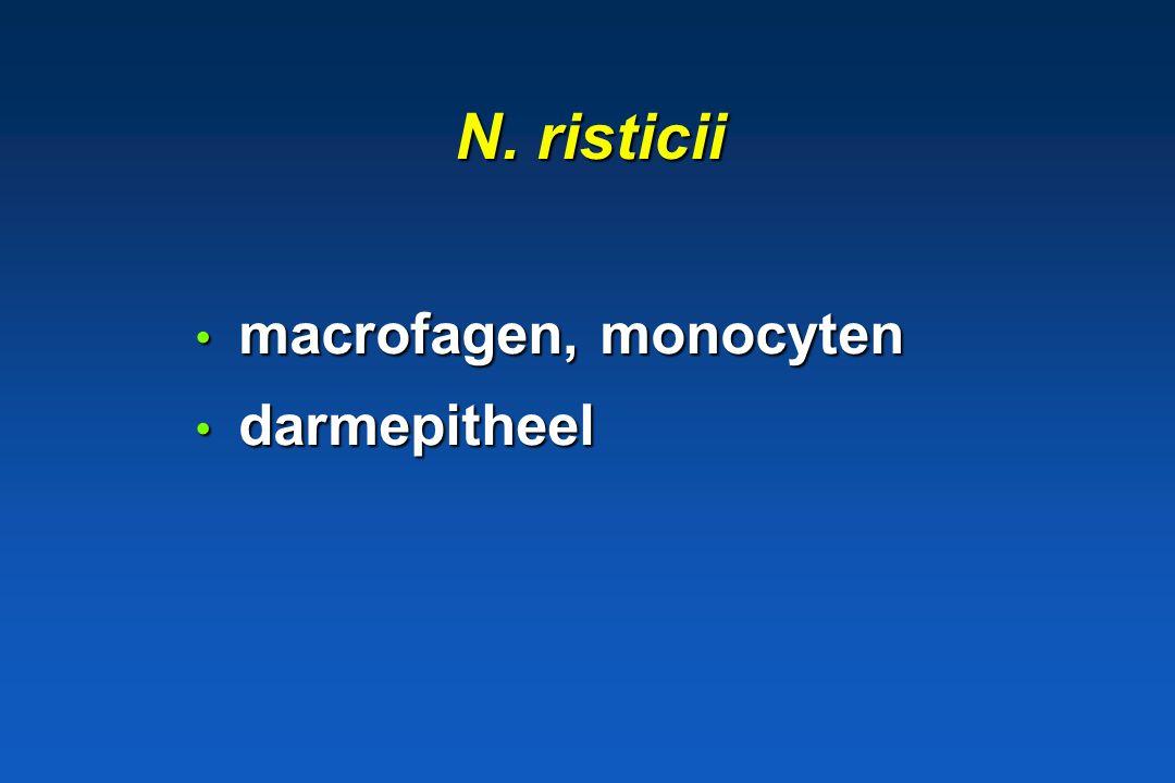 1.3.4. Genus Neorickettsia * N. risticii paard paard