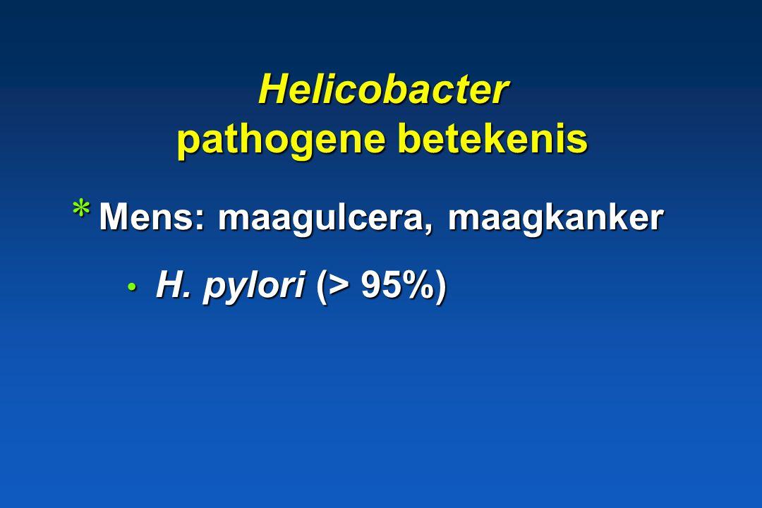 Genus Helicobacter Gram - Cultuur: +