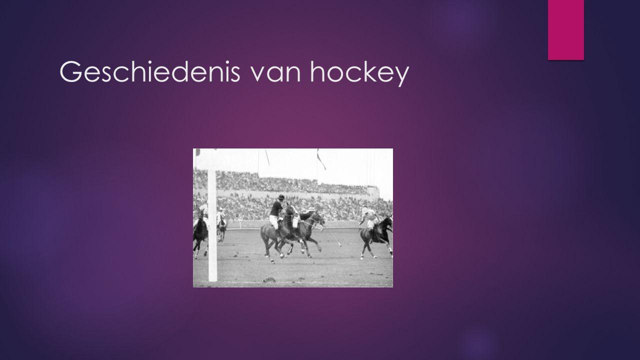 Geschiedenis van hockey