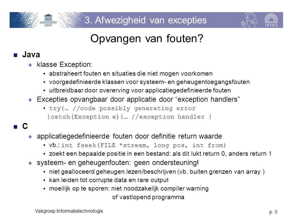 p. 5 Vakgroep Informatietechnologie 3.