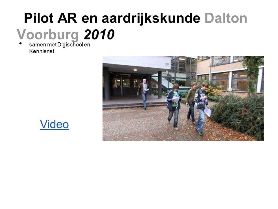 Pilot AR en aardrijkskunde Dalton Voorburg 2010 samen met Digischool en Kennisnet Video