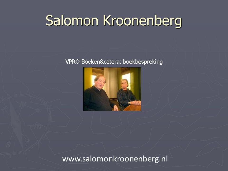 Salomon Kroonenberg VPRO Boeken&cetera: boekbespreking www.salomonkroonenberg.nl