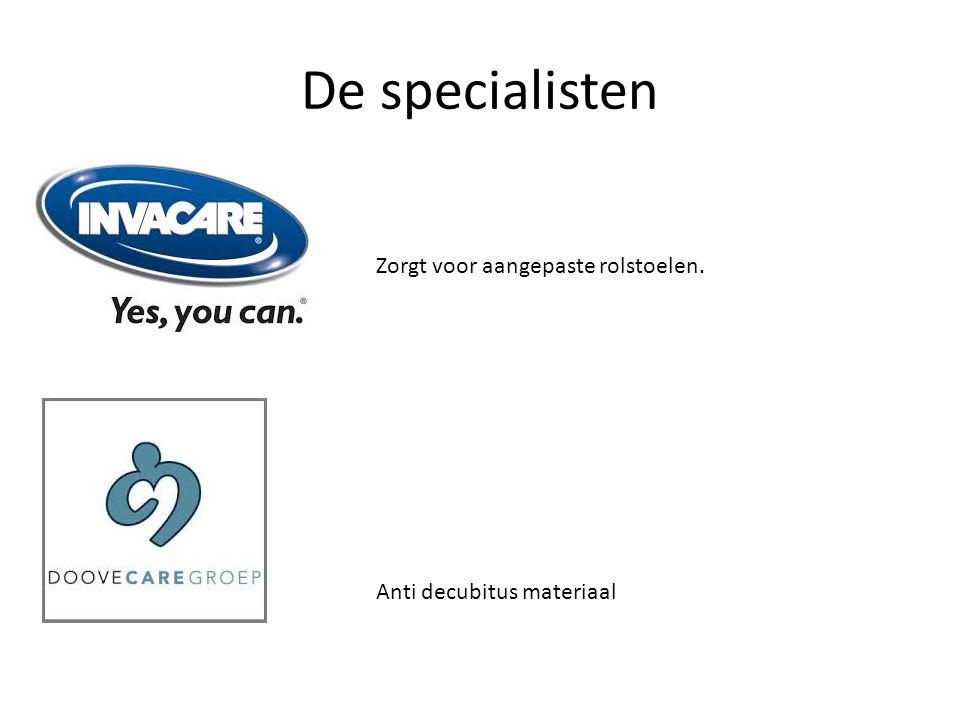 De specialisten Zorgt voor aangepaste rolstoelen. Anti decubitus materiaal
