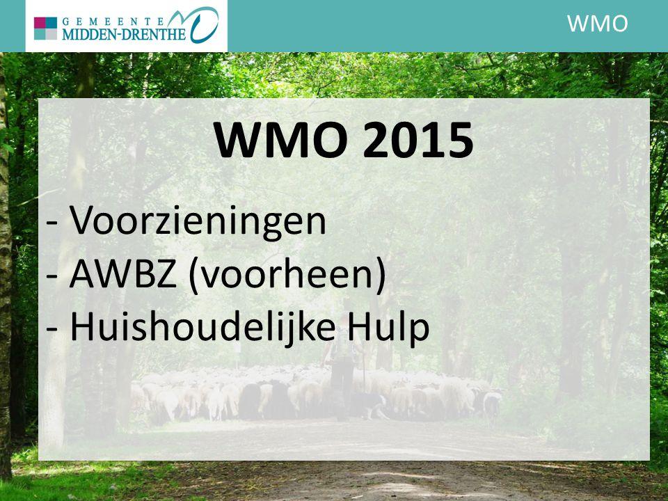 WMO WMO 2015 - Voorzieningen - AWBZ (voorheen) - Huishoudelijke Hulp