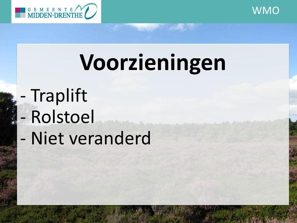 WMO Voorzieningen - Traplift - Rolstoel - Niet veranderd