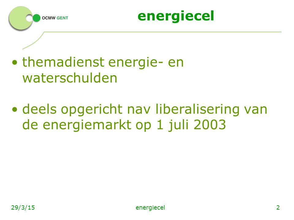 energiecel3329/3/15 Info en partners www.ocmwgent.be www.vreg.be www.vzwregent.be www.eandis.be www.tmvw.be www.mi-is.be www.verwarmingstoelage.be www.vvsg.be www.premiezoeker.be www.rechtenverkenner.be www.energiesparen.be