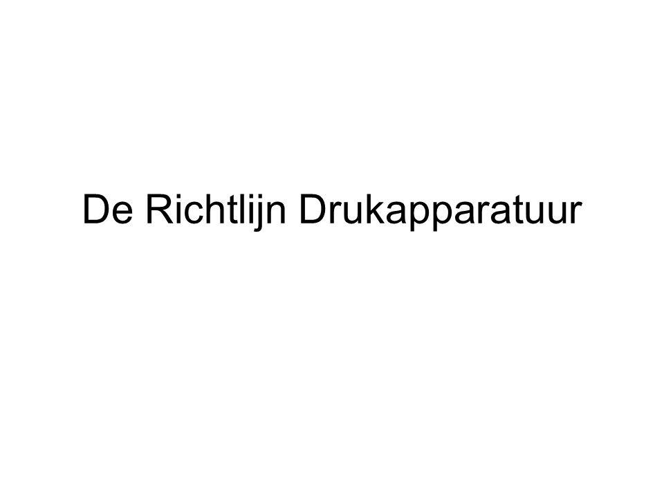 De Richtlijn Drukapparatuur