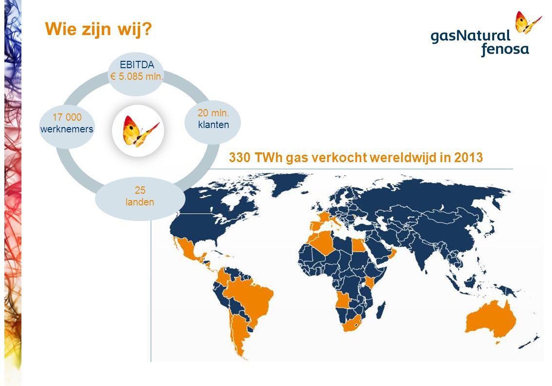 25 landen Wie zijn wij.20 mln. klanten 17 000 werknemers EBITDA € 5.085 mln.