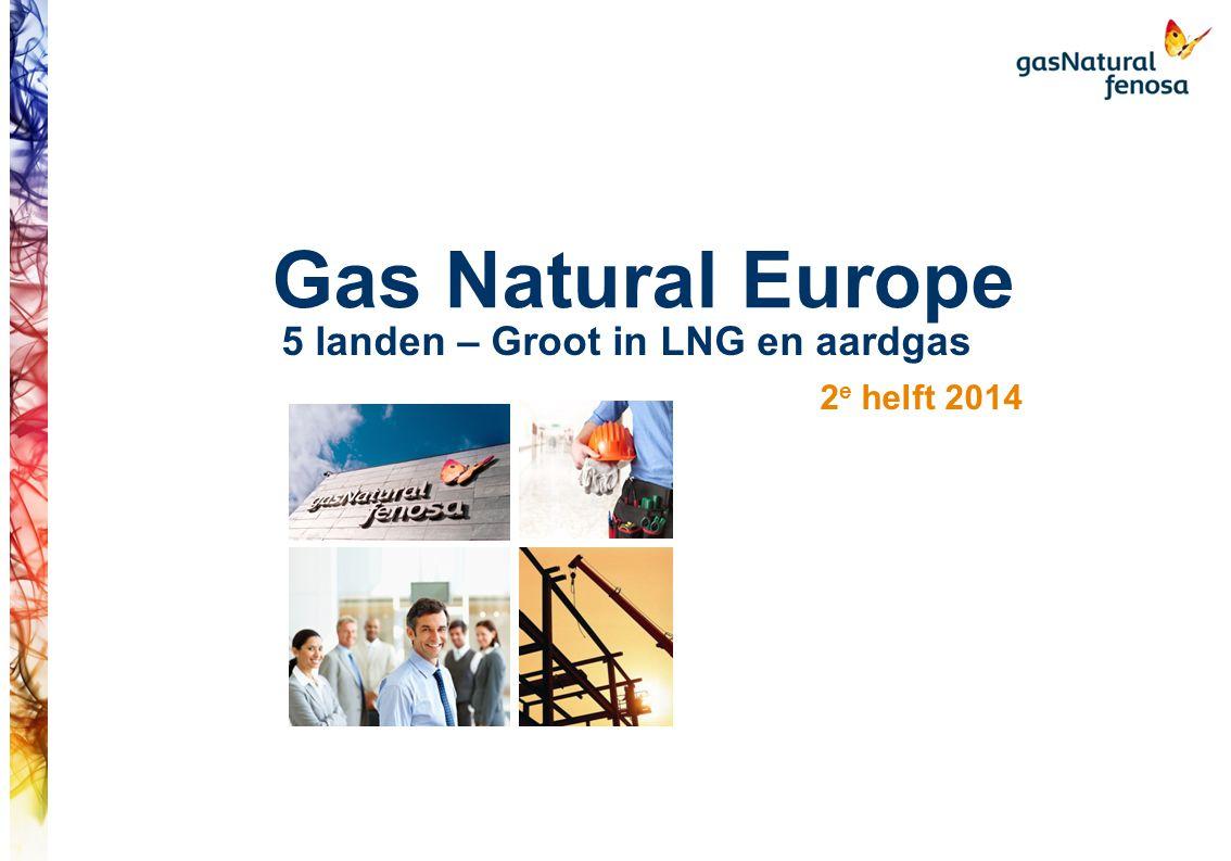 Parijs als strategisch centraal middelpunt in de Europese activiteiten TTF Zeebrugge PSV PEG NCG - Gaspool Montoir Larrau Panigaglia Quevy/ Taisnieres Toegang en bereik Hub Toegang infrastructuur Gas Natural Europe met een hoofdkantoor in Parijs, is een zelfstandige dochter van het Spaanse moederbedrijf maar profiteert wel van de voordelen van de groep.