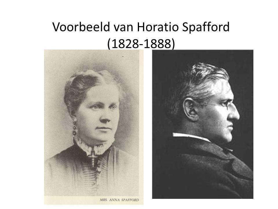 Voorbeeld van Horatio Spafford (1828-1888)