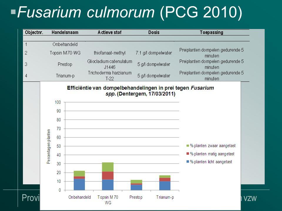 Provinciaal Proefcentrum voor de Groenteteelt Oost-Vlaanderen vzw  Fusarium culmorum (PCG 2010)