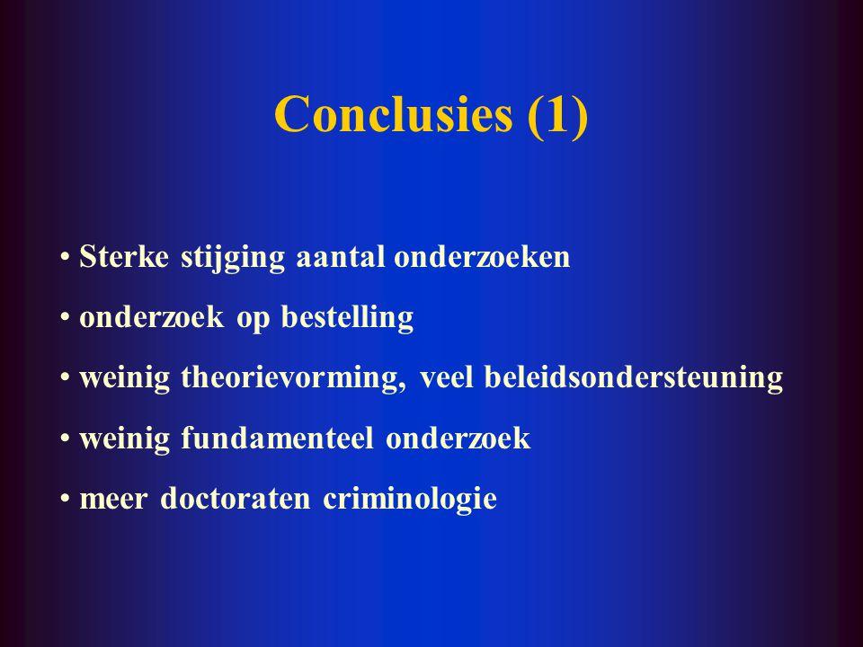 Onderzoeksthema's 1. Misdrijven en criminalisering 2.