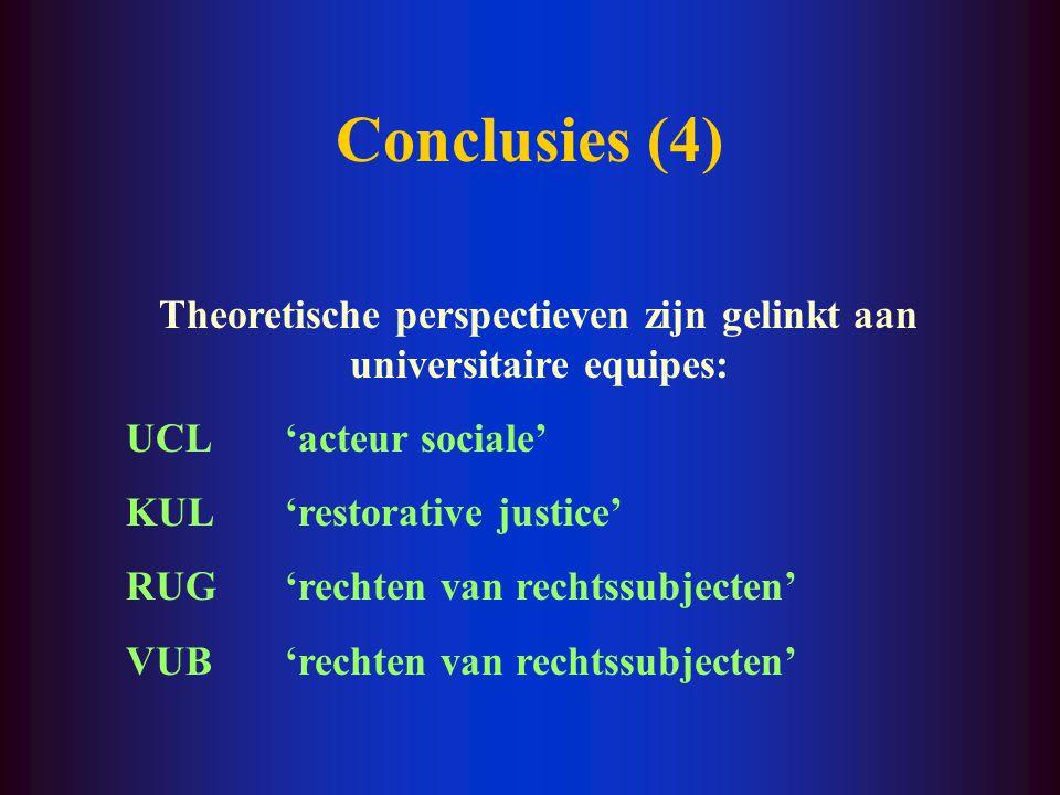Conclusies (3) Stijging van historische studies Stijging van reflexieve studies