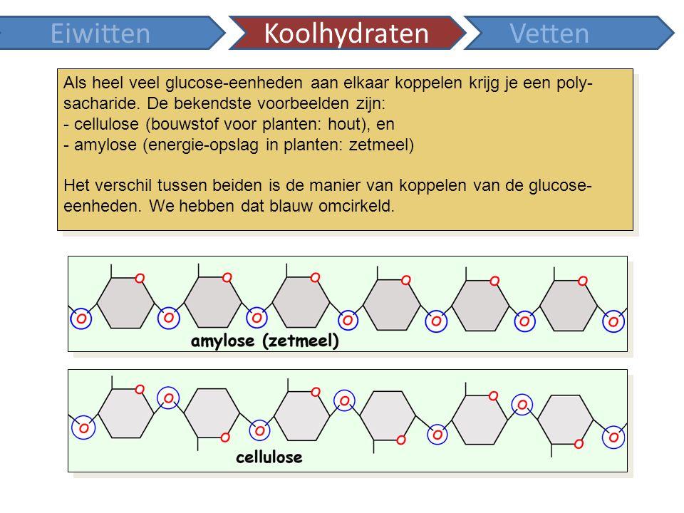 Dat die koppeling belangrijk is blijkt uit de grote verschillen in eigenschappen tussen cellulose en zetmeel.