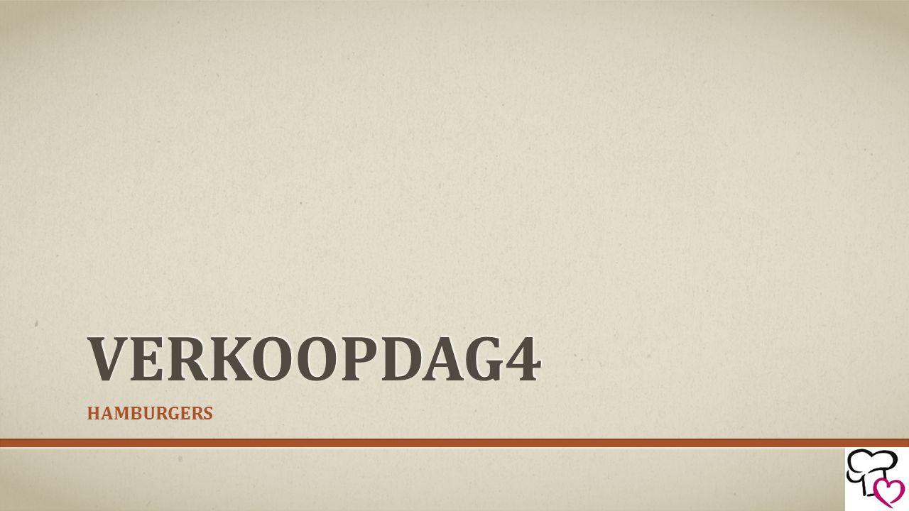 VERKOOPDAG4 HAMBURGERS