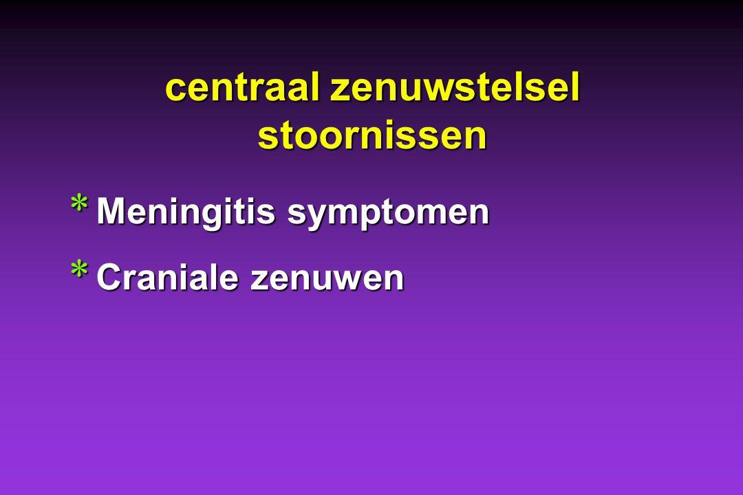 Ziekte van Lyme bij de hond: symptomen * Bewegingsstelsel * (Huid) * Centraal zenuwstelsel stoornissen * Hart en nieren