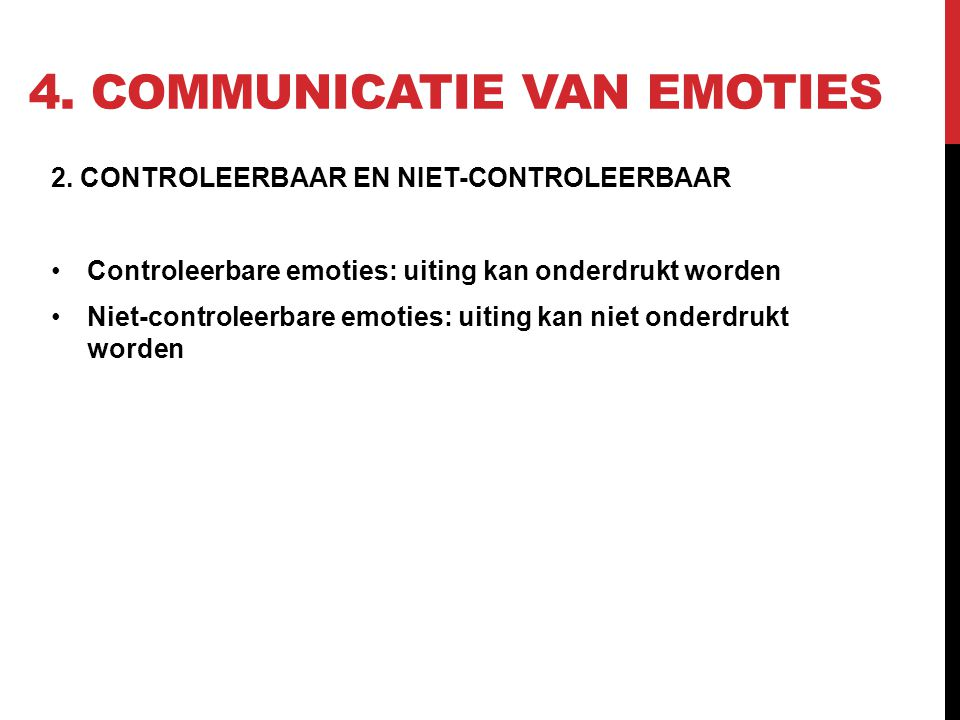 4.COMMUNICATIE VAN EMOTIES 2.