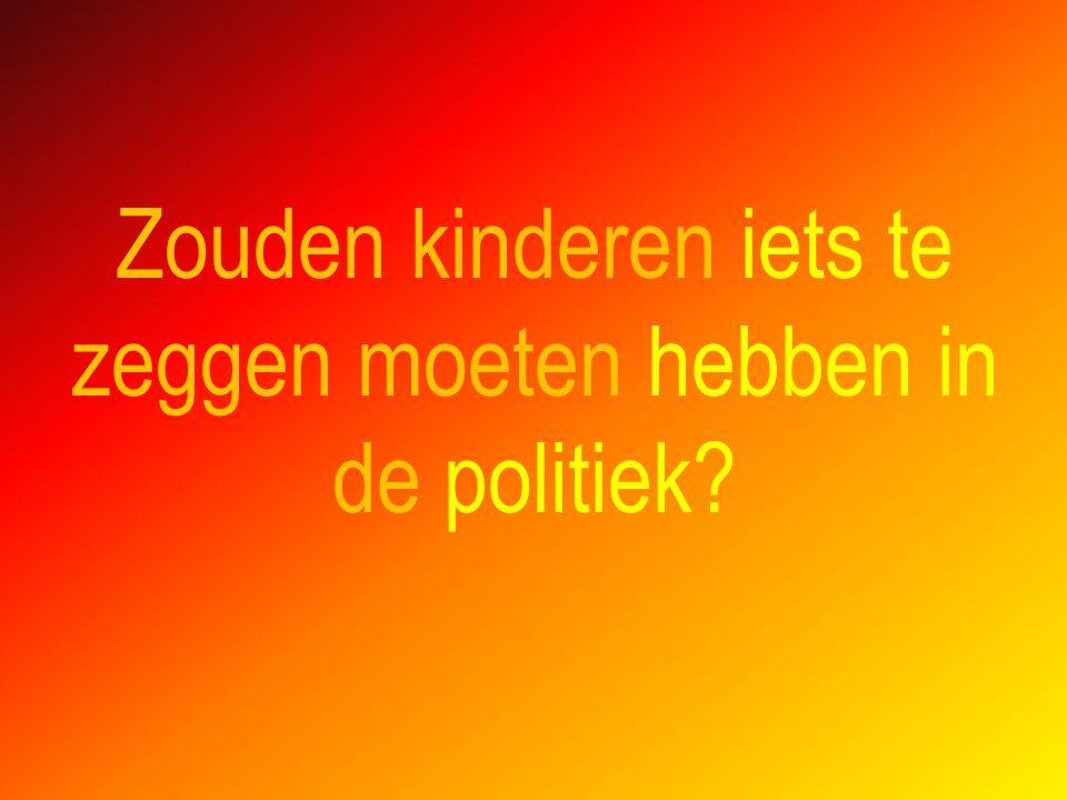 Zouden kinderen iets te zeggen moeten hebben in de politiek