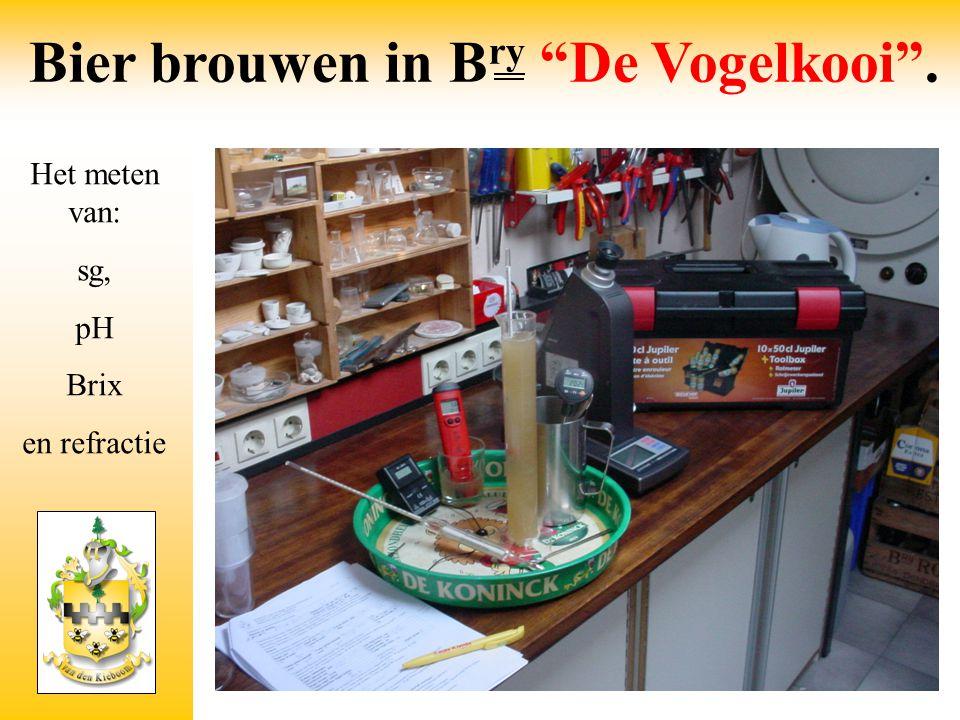 """Het meten van: sg, pH Brix en refractie Bier brouwen in B ry """"De Vogelkooi""""."""