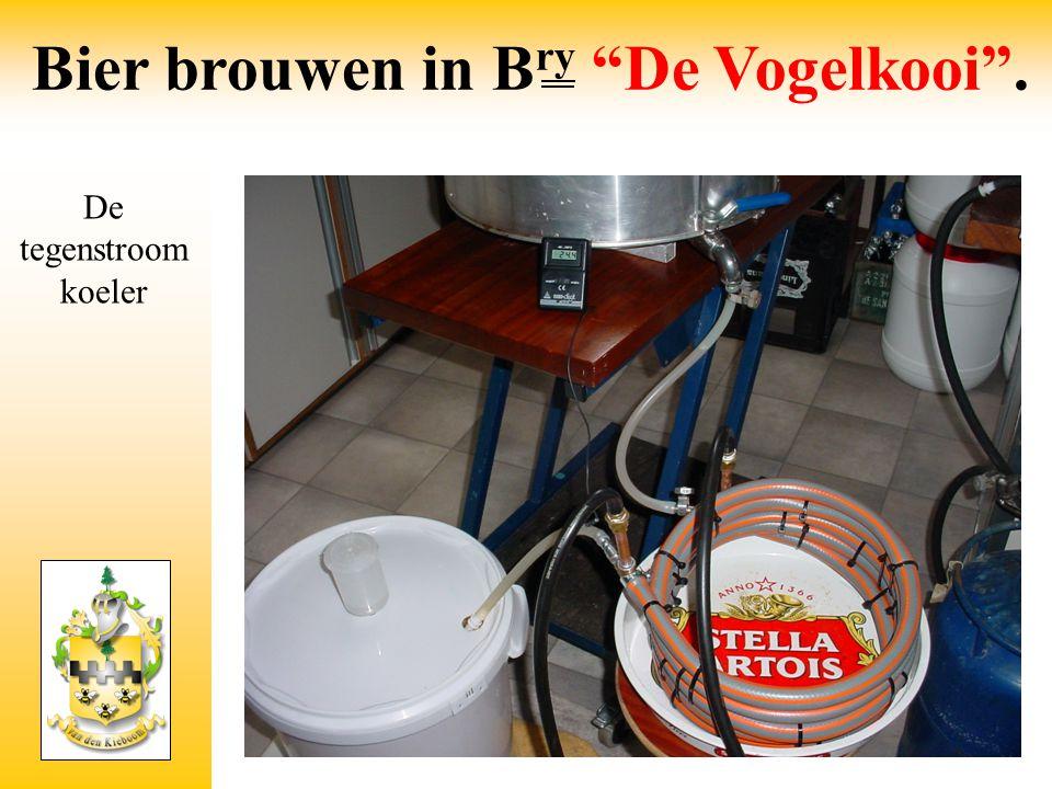 """De tegenstroom koeler Bier brouwen in B ry """"De Vogelkooi""""."""