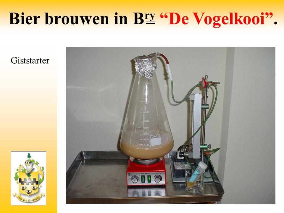 """Giststarter Bier brouwen in B ry """"De Vogelkooi""""."""
