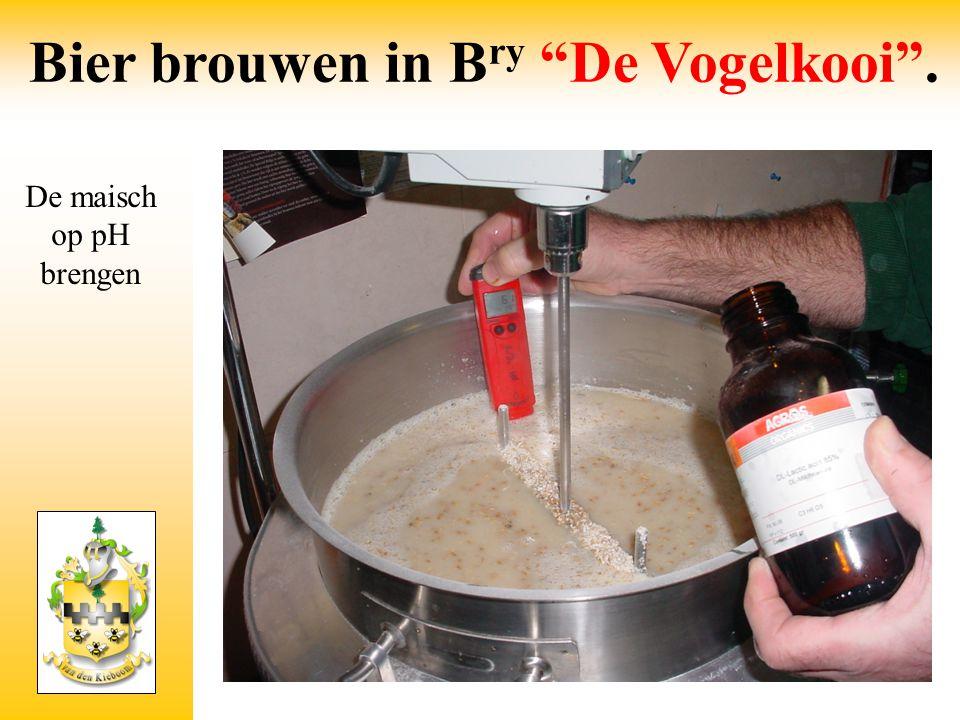 Bier brouwen in B ry De Vogelkooi . Maischen volgens temperatuur schema