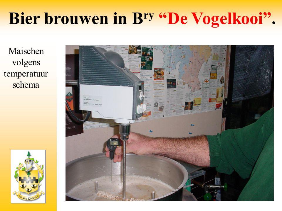 Maischen Bier brouwen in B ry De Vogelkooi .