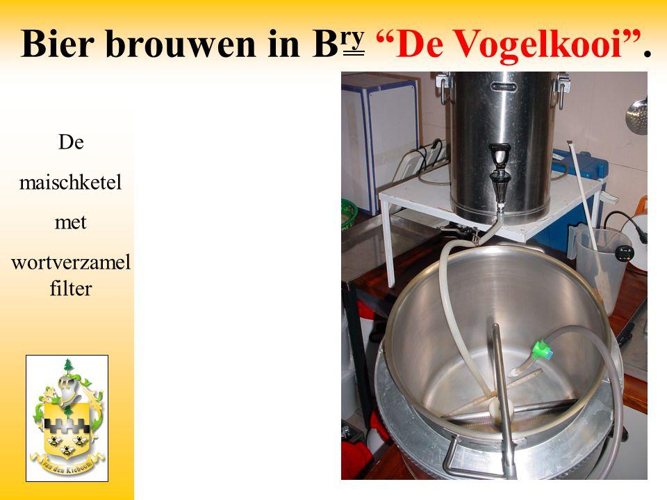"""De maischketel met wortverzamel filter Bier brouwen in B ry """"De Vogelkooi""""."""