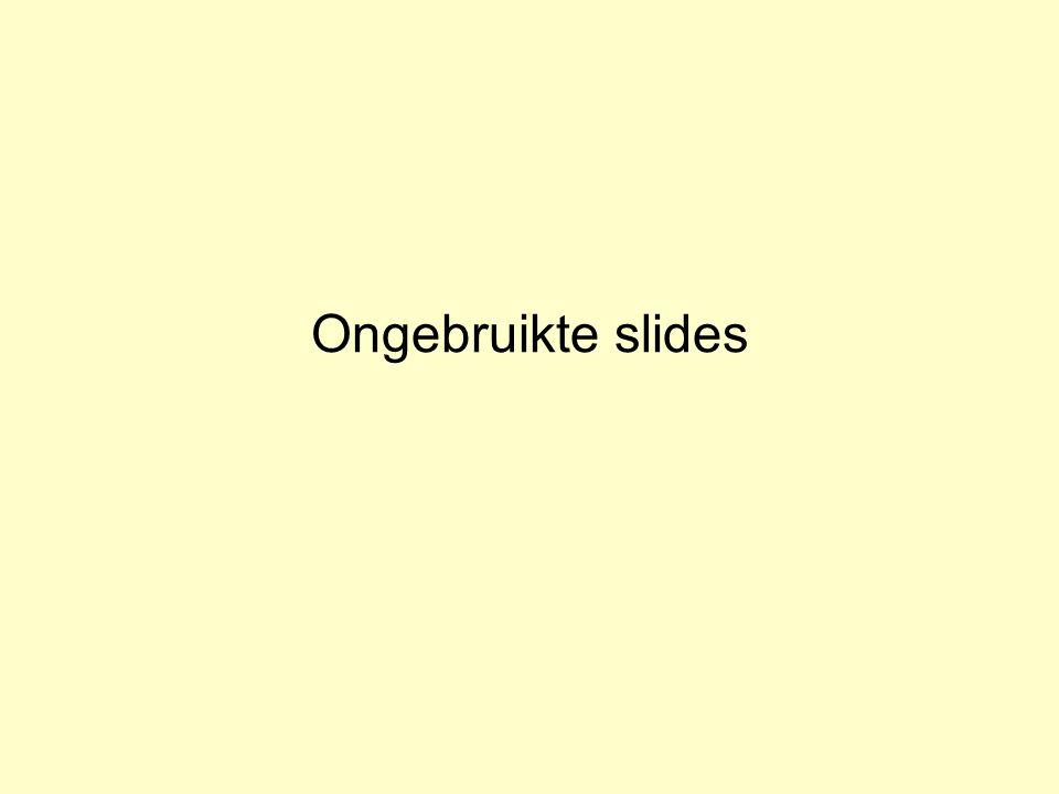 Ongebruikte slides