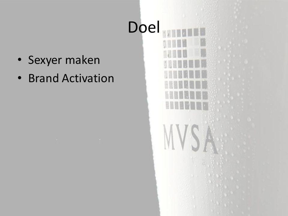 Sexyer maken Brand Activation Doel