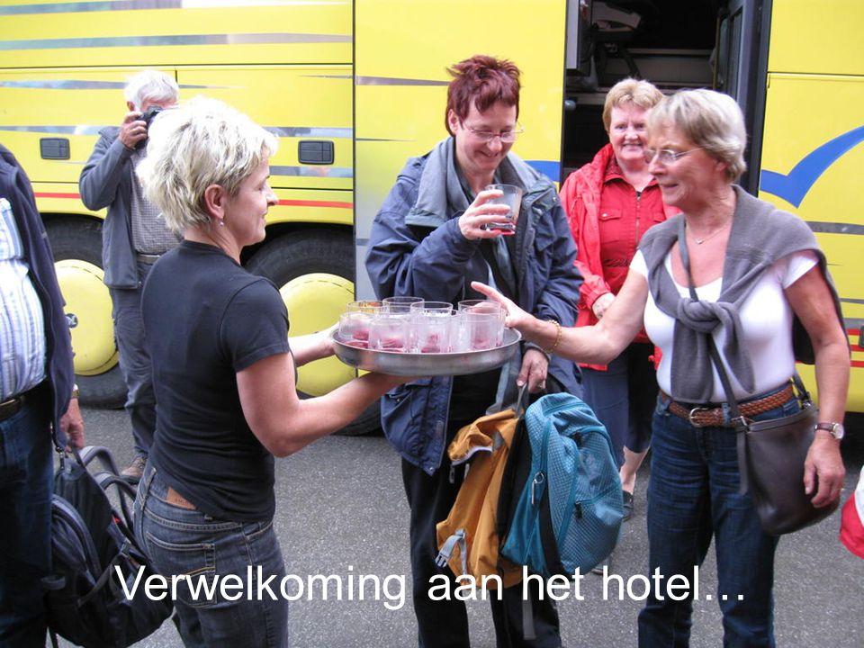 Verwelkoming aan het hotel…