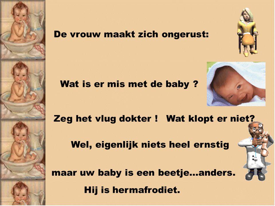 De vrouw maakt zich ongerust: Wat is er mis met de baby .