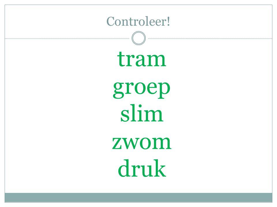 Controleer! tram groep slim zwom druk