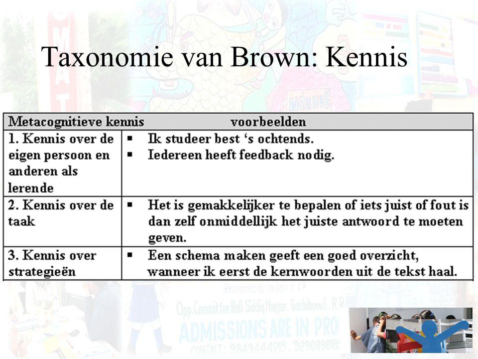Taxonomie van Brown: Kennis