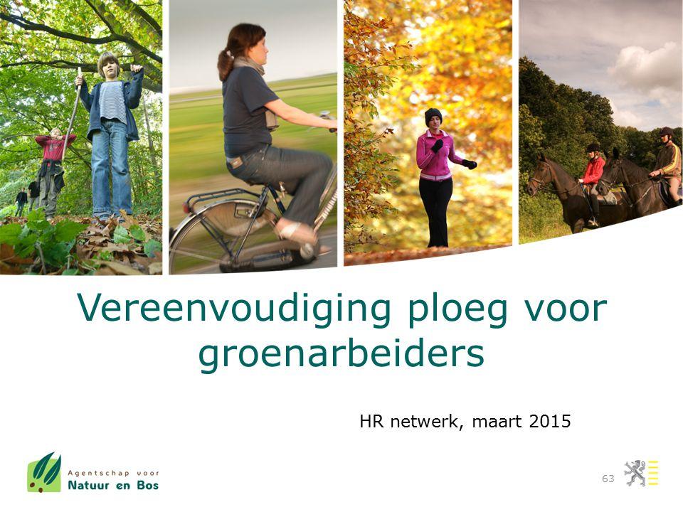 Vereenvoudiging ploeg voor groenarbeiders 63 HR netwerk, maart 2015