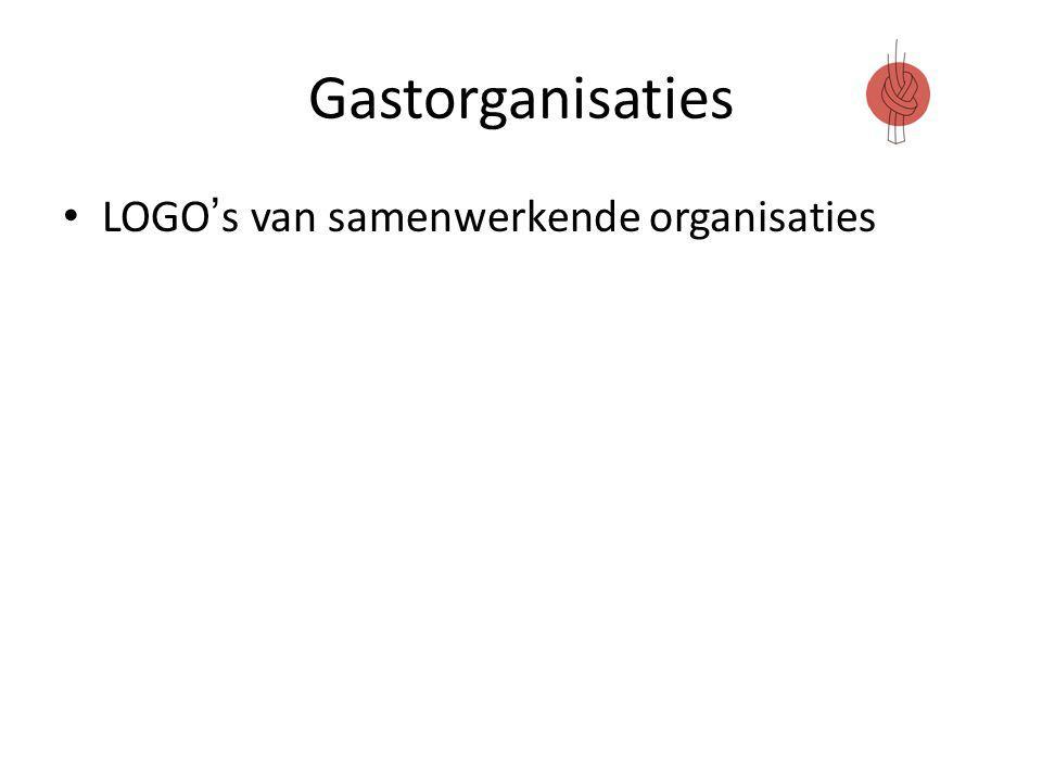 Gastorganisaties LOGO's van samenwerkende organisaties
