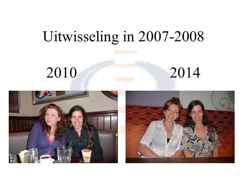 Uitwisseling in 2007-2008 20102014