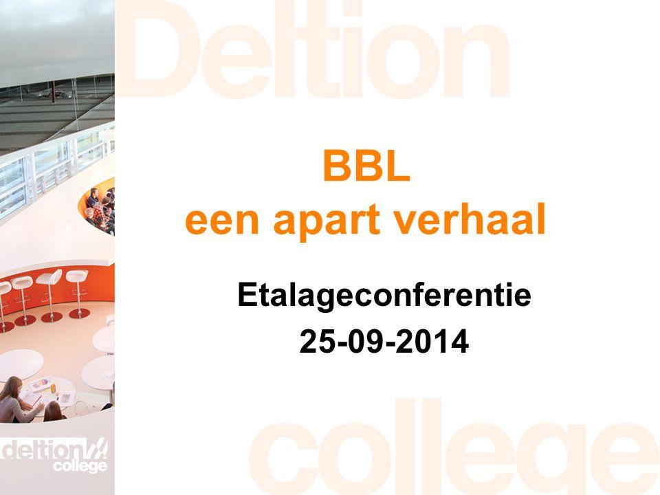 BBL een apart verhaal Etalageconferentie 25-09-2014