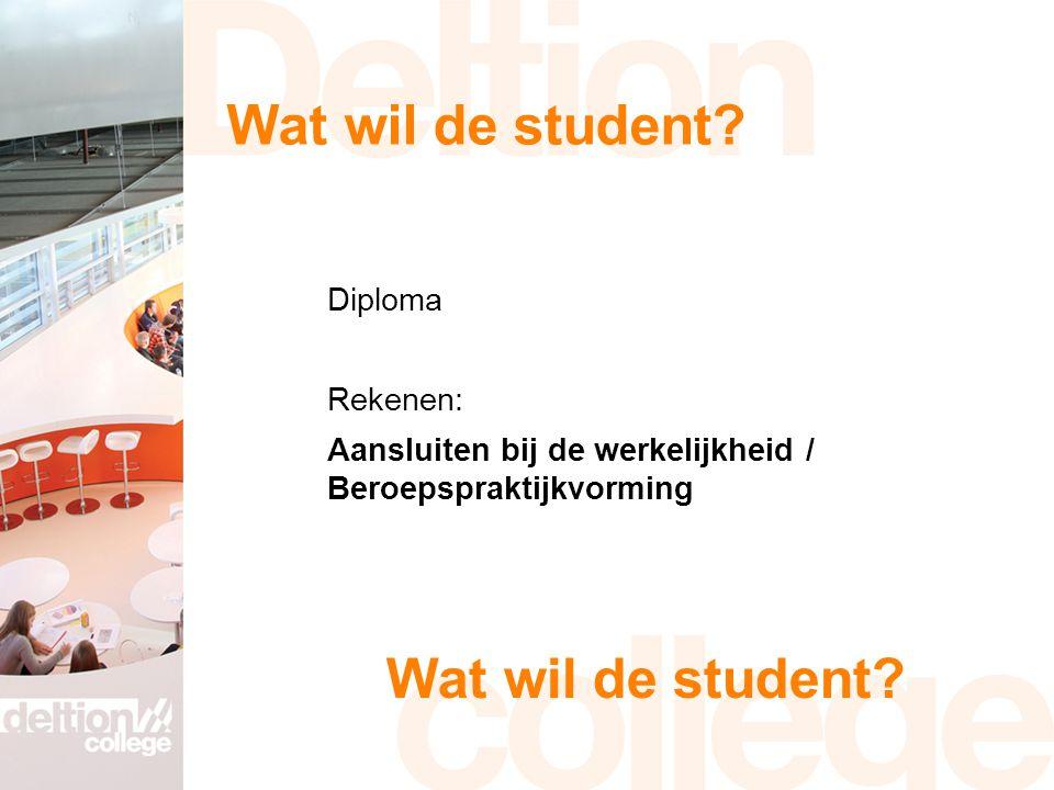 Wat wil de student.